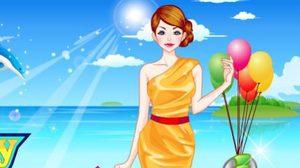 เกมส์แต่งตัวแม่ลูกไปเที่ยวทะเล Holiday Travel