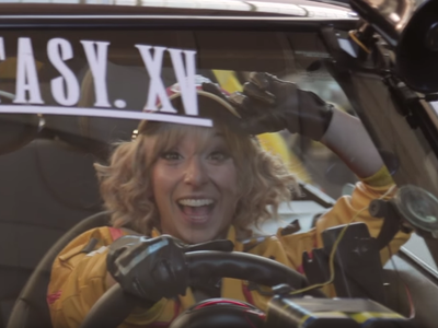 Final Fantasy XV จัด Uber ให้นั่งฟรี นำทีมโดย Cindy ช่างเครื่องสุด Sexy
