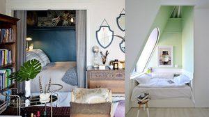 10 ห้องนอน ออกแบบโดนๆ ด้วยเทคนิคการ จัดเตียงเข้ามุม สไตล์ปังๆ