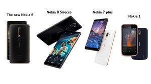 HMD Global เปิดตัว Nokia 8 Sirocco, Nokia 7 plus, new Nokia 6 และ Nokia 1 ประเดิมความตื่นตาในงาน MWC18
