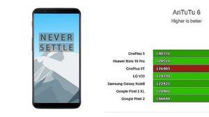OnePlus 5T ทดสอบผ่าน AnTuTu คะแนนสูงกว่า Galaxy Note 8 และ Pixel 2