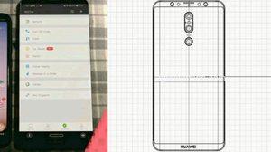 หลุดภาพต้นแบบ และ ภาพร่าง Huawei Mate 20 มาพร้อมกล้อง 3 ตัว จอไร้รอยบาก