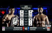 คู่ที่ 6 Super Fight รุ่งราวี ศศิประภายิม VS มูราด ฮาร์ฟาอุย