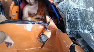 ภาพหลวงพี่สายฟาสเจ็บ หลังเทสต์ไดร์ฟรถชนต้นไม้ เจ้าอาวาสฉุนจับสึกทันที