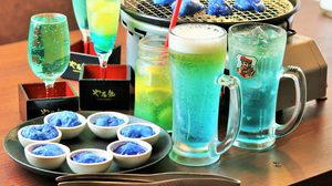 ร้านอาหารที่ ญี่ปุ่น เปิดตัวเมนูอาหารสีฟ้า เพื่อสนับสนุนทีมฟุตบอลของชาติตัวเอง