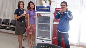 Khonkaen Police offers free drinks