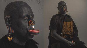 โอ้ย โหดเกิน สักแบบฮาร์ดคอร์ ศิลปินคนนี้ลงทั้งหน้าและลูกตาด้วยสีดำ