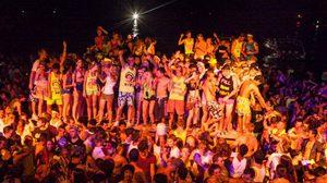 เที่ยว ฟูลมูนปาร์ตี้ หาดริ้นนอก เกาะพะงัน