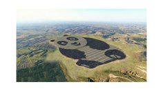 มุ้งมิ้งมากกก! แผงพลังงานแสงอาทิตย์ หมีแพนด้า ในประเทศจีน