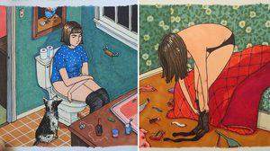 20 ภาพ เปิดเผยความจริง 'ผู้หญิงโสด' ทำอะไร…เมื่ออยู่คนเดียวในห้อง?