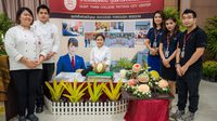 วิทยาลัยดุสิตธานี พัทยา โชว์หลักสูตรการเรียนแกะสลัก ในงาน Best Fruit Gateway