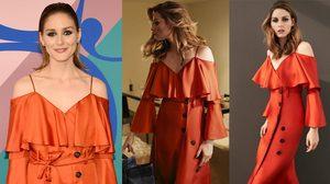 """ให้ทายว่ากี่บาท """"โอลิเวีย"""" เลือกชุดเดรสสีส้ม ราคาแค่หลักพัน ออกงาน CFDA2017"""