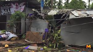 เกาะสมุยพายุลมกระหน่ำรุนแรง พัดต้นไม้ล้มทับบ้านพัง พนักงานโรงแรมบาดเจ็บ