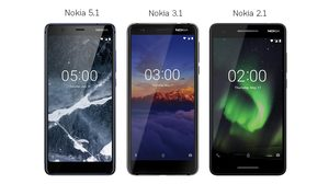 HMD Global เปิดตัว Nokia 5.1, Nokia 3.1 และ Nokia 2.1 เพียว Android สเปคจัดเต็มในราคาน่าคบหา
