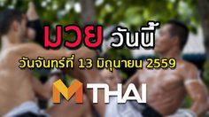 โปรแกรมมวยไทยวันนี้ วันจันทร์ที่ 13 มิถุนายน 2559
